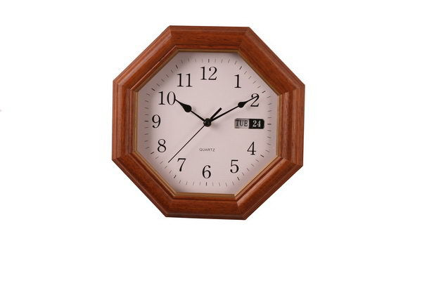 Bottom price stylish northern europe creative fashion wooden framed digital wall clock