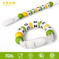 Funny Kids Animal Toys And Adult Baby Teething Beads Chain Pacifier