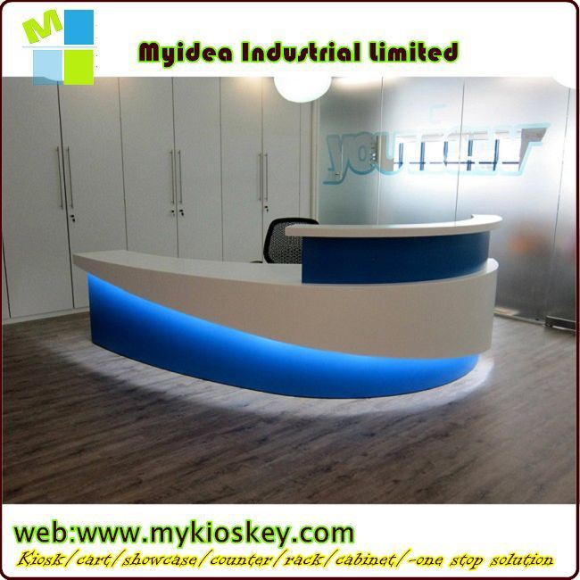 Reception Table Designround Desk Coffee Bar