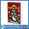Wooden Christmas tree book style advent calendar