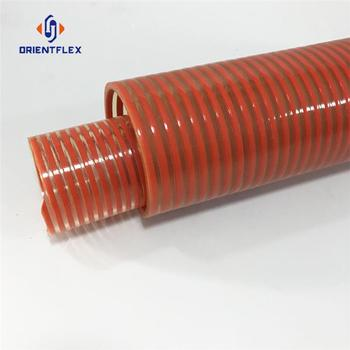 PVC flexible helix orange suction hose