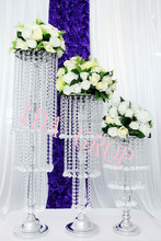 IDA tall centerpiece stands wholesale /wedding aisle decorations crystal pillars/wedding flower floor stands wholesale