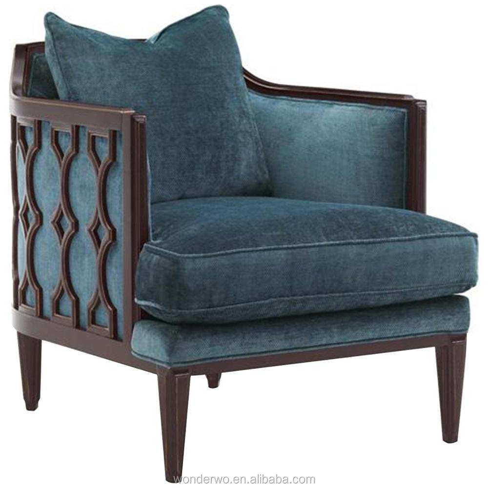 upholstered chairs for living room. Caracole Wood Frame Upholstered Chair traditional British dark wood finish  accent chair living room furniture
