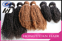 2015 New Arrival brazilian human hair hair extension ,kinky baby curl hair weave