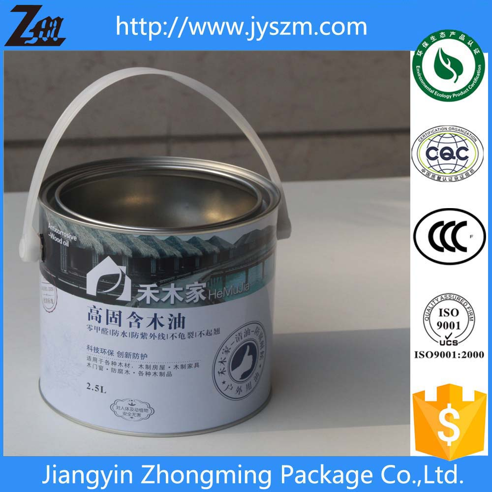 5L small tin bucket with lid&handle