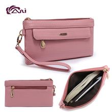 Fani Brand Wallet Multiple Function Mobile Phone Case Card Holder PU Wallets for Women