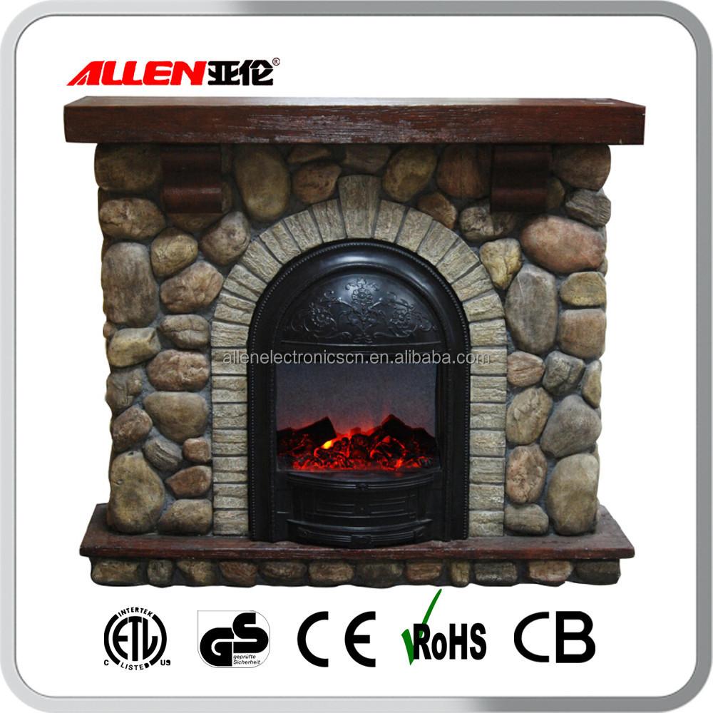 Effetto pietra fiamma falso camino elettrico con mensola for Camino elettrico effetto fiamma
