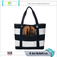 Wholesale vinyl wide strap waterproof beach tote bag