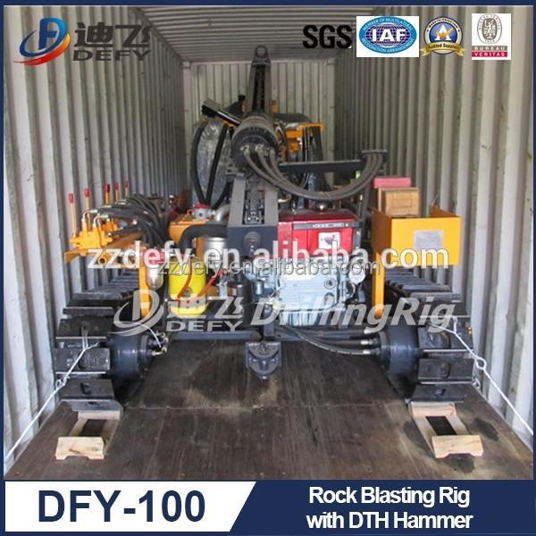 Rock Blasting Equipment : Rock blasting drilling rig equipment with small air