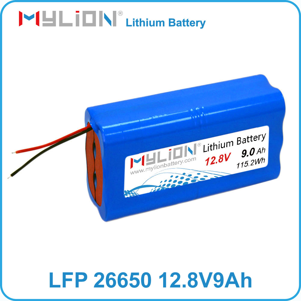 Small long cycle life lithium battery pack 12V 9Ah for motorcycle starter instead of lead acid with life po4 26650 cell