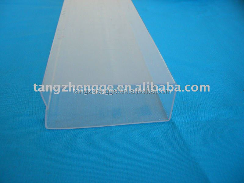 Clear pvc rectangular tube transparent rigid square mm
