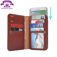 Folded Leather Wallet Cases for HTC mobile phone sleeve with SIM card slots credit card bag for HTC Desire 501