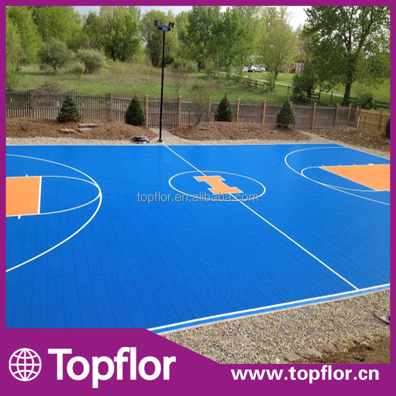 Plastic Outdoor Basketball Court PP Interlock Flooring