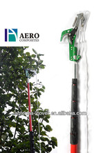 Telescoping long handle tree pruning saw