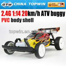 2.4G 1:14 PVC body shell ATV buggy