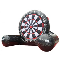 Giant inflatable soccer darts board game with balls