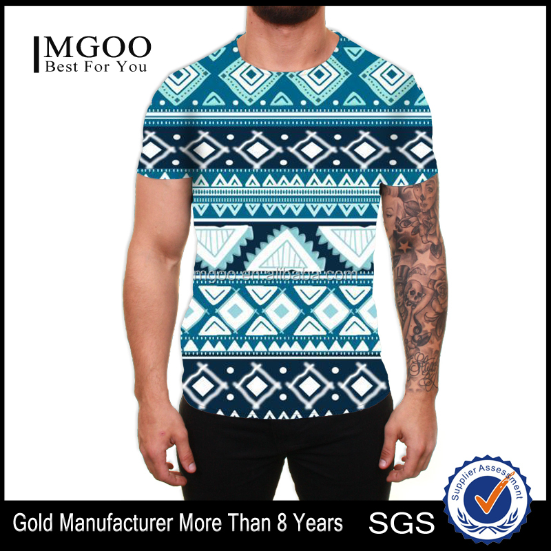 MGOO Fo shan Custom Design Apparel Manufacturer OEM Tee With All Over Printing Christmas Sublimation Printed T-shirt