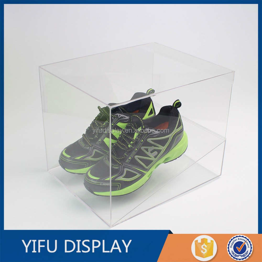 Clear Acrylic Glass Shoe Display Case, acrylic shoe display box