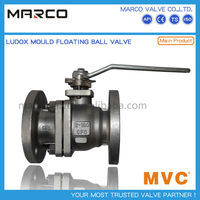 Hot sale carbon and stainless steel floating type lever handle type operation ball valve