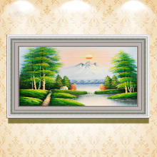 hall artwork modern hand painted canvas landscape oil painting