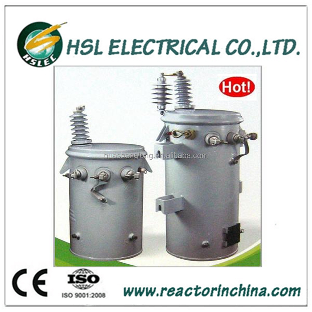 6KV single phase pole mounted oil immersed distribution transformer 80KVA