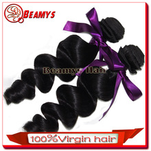Beamyshair hot selling 100% virgin hair, natural color double weft white women human hair ponytail cheap