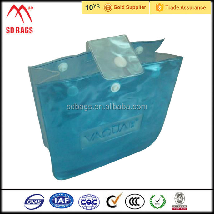 Best selling products clear pvc plastic bag with snap button