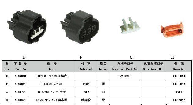 Nippon Denso 3 pin connector