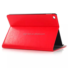 Crazy horse sided wax pattern leather case with credit holder for iPad air 2 wallet case