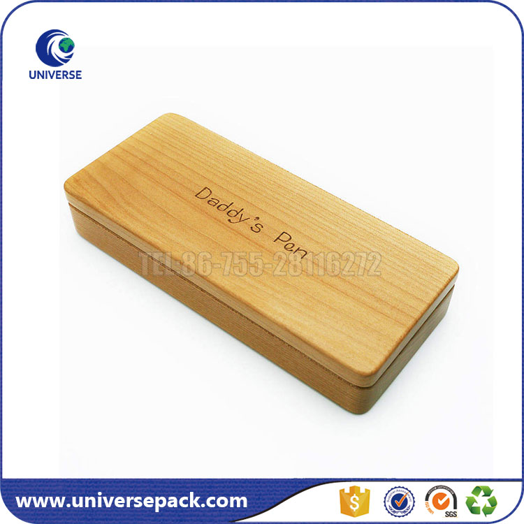 High Quality Custom Made Bamboo Pen Package Box For Father's Day