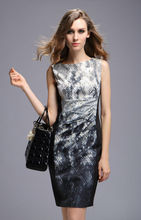 Elegance ladies snake print tunic dress,chinese clothing manufacturers
