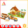 bricks intellect building blocks toys for the farm block with tractor