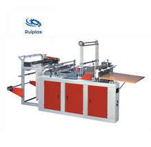 bottom sealing cold cutting poly plastic carry nylon bag making machine