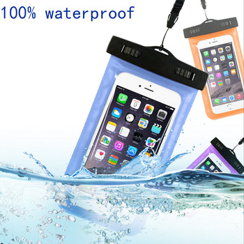Wholesale Factory price ultra thin Plastic mobile Phone Neck Bag Swim Travel Waterproof Phone Pouch Case for samsung galaxy j7