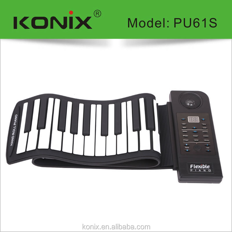 61-Key Touch Sensitive portable Keyboard with midi learning software
