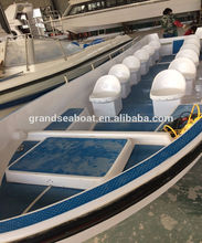 7m Length 12seats Fibergalss Panga Model Used Boat