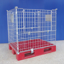 Collapsible Metal Wire Mesh Pallet Cage