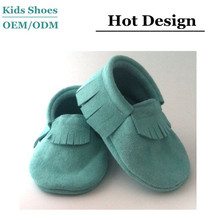 2014 best selling high quality suede soft baby shoes baby moccasins