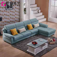 Customized Leisure Fabric L Shaped Corner Sectional Sofa