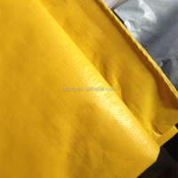 180gsm yellow pe tarpaulin with eyelets and plastic corner