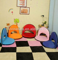 One Seat Living Room Floor Comfortable Fabric Seat Sofa With Backrest\Colorful Circle Shape Style Legless Folding Sofa Chair