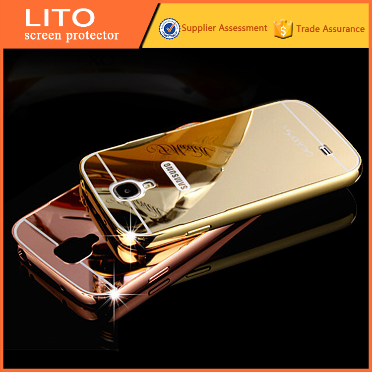 Metal aluminum bumper plating mirror case for s4 mini samsung galaxy s4