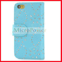 Floral Print Faux Leather Flip Case with hollow flower