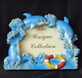 Resin home decorative handmade dolphin baroque love photo frame