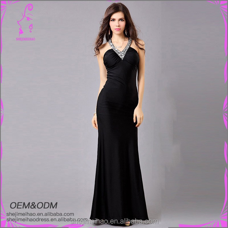 Hot Sale Latest Design Elegant Sexy Lady Long Evening Dress for Party