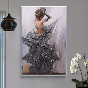 Famous women oil paintings wedding stage decoration nude women dancing oil painting