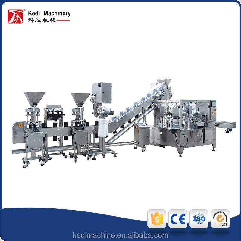 Multi-function Full-automatic Wenzhou Kedi Stainless Steel 304 Material Rotary Packing Machine Unit