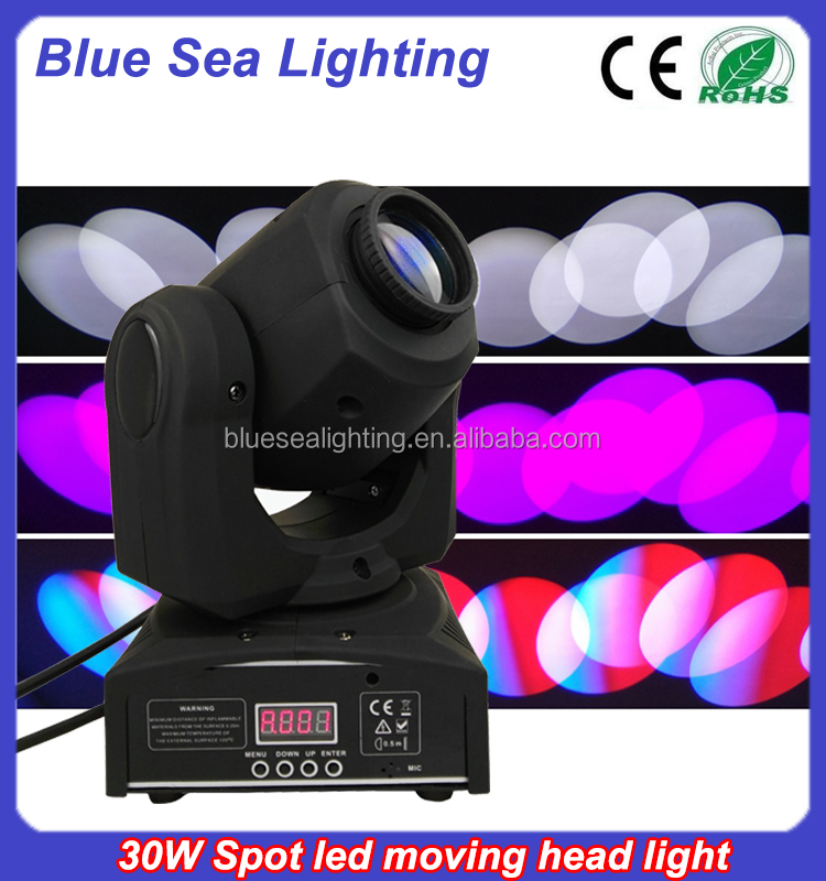 Unique products from china 30w led spot dj light movers
