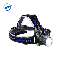2017 Wholesales led headlight T6 zoomable 2x18650 battery 500m headlamp