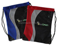 Recycle Pet Wholesale Drawstring School Bags with Rip Resistant Corners